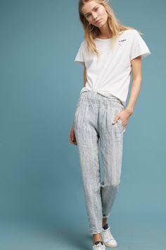 Striped Linen Pants #Anthropologie