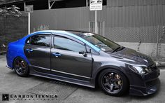 Our 2013 full carbon project Honda Civic FD2R , One year later. Picture taken in July 2014. Picture 4