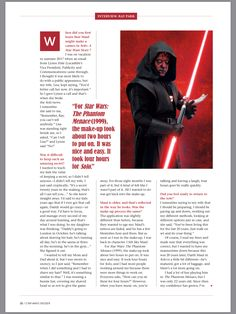 Sith Lord, The Phantom Menace, Jedi Knight, Darth Maul, For Stars, Knights, Star Wars, Facts, Thoughts