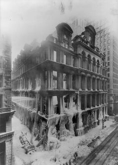 Edward N. Jackson ~ Prince of News Photography, Equitable Building Fire, 1912