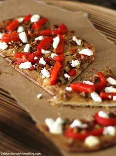 Olive Tapenade Flatbread Appetizer - Celebrations at Home