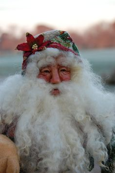 OOAK  Santa with hand sculpted Premo Sculpey by TK.  sold