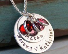 Mano estampado mamá joyas personalizado gran por IntentionallyMe