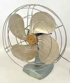 Vintage Polar Cub Metal Oscillating Desk Fan