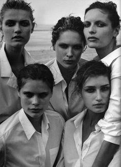 Ph. © Peter Lindbergh  (The power of the white shirt May 2003, Vogue Italia)