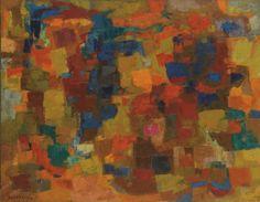 Enzo Brunori - Sole sul mare - 1957 - Olio su tela, 116 x 145