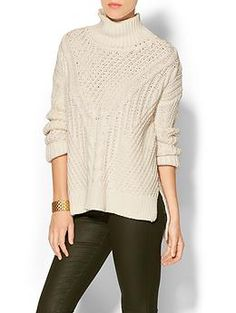 525 america Hi Lo Turtleneck Sweater | Piperlime - I'm generally not a big turtleneck person, but I like this.