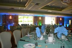 The Regency Ballroom at Anthony's Pier 9 in New Windsor NY set up for an Under the Sea themed party