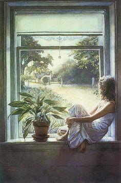 Steve Hanks -- painting  I so like his work