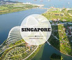 The view from the Marina Bay Sands in Singapore - La vue de la terrasse d'observation du Marina Bay Sands - Singapour