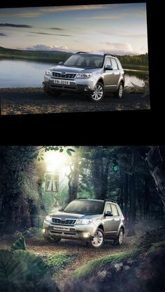Before-After compilation #1 Cars ads by Denis Kornilov, via Behance