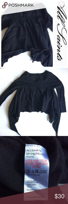 All SAINTS black Tavaras Jumper kids sweater 2 yrs So cute! All Saints Spitalfields Tavara Jumper,   little black trendy Sweater! I I want  this for myself, it's sooo adorable!  Size 2 years but should fit anywhere from  18 months - 2 . All Saints Shirts & Tops Sweaters