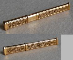 c1790, Antique GOLD NEEDLE CASE, French (Antique Sewing Item - Etui) from hwantiques on Ruby Lane