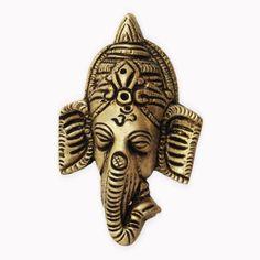 Ganesha Head Wall Statue from India