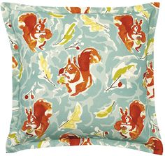 Go Nuts Cotton Throw Pillow