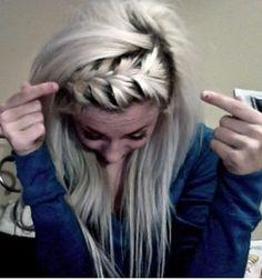 Cute braid with down hair