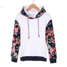 New Fashion Ladies Casual Hoodies Sweatshirt Long Sleeve Patchwork Floral Loose Leisure Sports Women Pullover Hooded Outwear 3 Online with $18.32/Piece on Betty9907's Store | DHgate.com