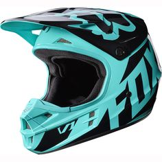NEW 2017 FOX RACING MENS ADULT MX ATV MOTO X RIDING TEAL GREEN V1 RACE HELMET #FoxRacing
