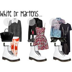pl sklep internetowy z obuwiem autoryzowany od sprzedajacy obuwie firm Dr. Dr Martens Outfit, Doc Martens, White Dr Martens, Booties Outfit, Summer Outfits For Teens, Spring Outfits Women, Grunge Outfits, Combat Boot Outfits, Estilo Grunge