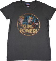 Girl Power Shirt by Junk Food Junk Food Tees, Cool T Shirts, Tee Shirts, Girl Power T Shirt, Dc Comics Shirts, Word Girl, Geek Fashion, Batgirl, Supergirl