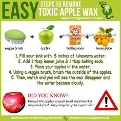 How to get wax off of apples