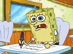 Spongebob writing paper