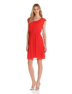 AGB Women's Flowy Fluid Chiffon Dress
