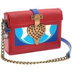 Disney Descendants Evie Crossbody Bag ($120) ❤ liked on Polyvore featuring bags, handbags, shoulder bags, red crossbody purse, red crossbody, disney purse, red cross body purse and crossbody purse