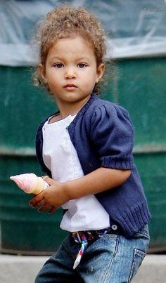 Halle Berry's daughter Nahla. Gorg.
