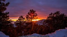 Sun Setting During a Snow Storm on Mt. Lemmon AZ 4K or HD wallpaper for your PC, Mac or Mobile device