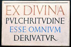 Eric Gill, 'Inscription 'Ex Divina Pulchritudine'' 1926