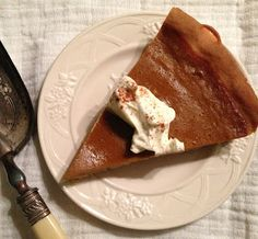 Pumpkin pie with spices like cinnamon, nutmeg and allspice Cinnamon, French Toast, Muffins, Spices, Pudding, Pumpkin, Sweets, Breakfast, Desserts