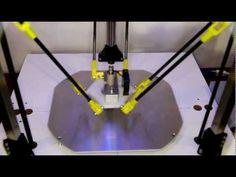 RepRap 3DR Delta 3D printer - YouTube