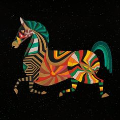 Zodiac Horse by Thailan on Etsy. Get in depth info on Chinese Horse personality and traits at http://www.examiner.com/article/the-chinese-zodiac-the-chinese-horoscope-astrology-the-year-of-the-horse For a more lighthearted look at the Chinese Horse go to http://www.examiner.com/article/a-funny-look-at-the-chinese-zodiac-sign-of-the-horse