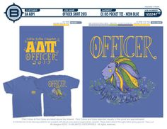 Look at these fun officer shirts from Delta Delta