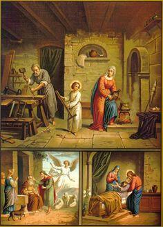 Jesús María y José en su taller de carpinteria
