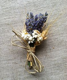 wedding corsages for mother of the bride with dried lavender - Google Search