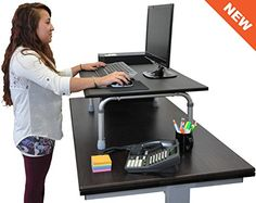 "32"" Wide Standing Desktop Desk Stand Up Desk Store http://www.amazon.com/dp/B015RXUV3U/ref=cm_sw_r_pi_dp_PX-Pwb039FS04"