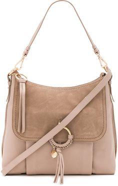 See By Chloe 'Joan' shoulder bag in Gray, size L.