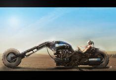 Biker Chick, Cyberpunk, Futuristic, Monster Trucks, Vehicles, Waiting, Image, Apocalypse World, Design Tech