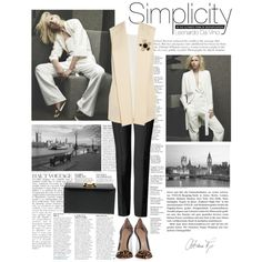 Simplicity by malbina-82 on Polyvore featuring Chloé, STELLA McCARTNEY, Salvatore Ferragamo, Gianvito Rossi, Yves Saint Laurent, Chanel and Anja