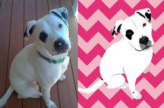 Custom Pet Portrait [Before & After] www.erinreadesign...
