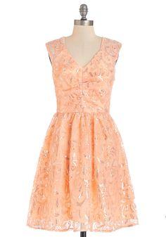 Twinkling at Twilight Dress in Peach
