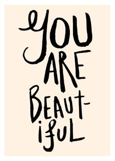 you are beautiful. by the love shop on etsy #Christmas #thanksgiving #Holiday #quote