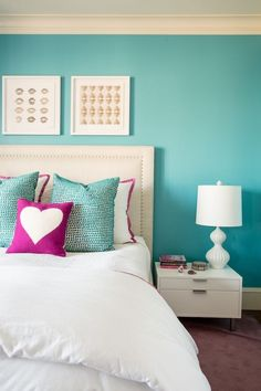 Teen bedroom colors new room same furniture adding new paint and accessories can transform a space Teen Bedroom Colors, Room Decor For Teen Girls, Trendy Bedroom, Bedroom Neutral, Teal Teen Bedrooms, Small Bedroom Paint Colors, Teen Bedroom Designs, Teenage Room, Master Bedrooms