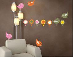 Wandsticker vögel