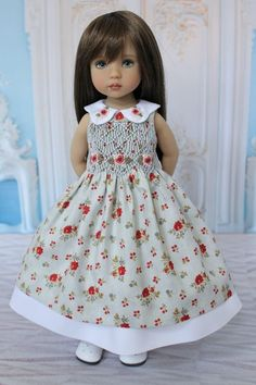 "OOAK Smocked Dress Ensemble for Effner 13"" Little Darling Dolls by DHD 