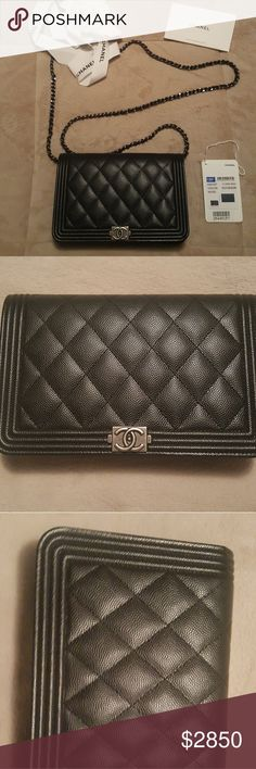 7c8540fd5e3953 Chanel Boy WOC Seasonal Chanel 18P Boy WOC in black caviar leather and  ruthenium hardware It