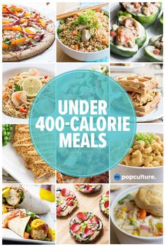 40 Healthy Dinners Under 400 Calories, You'll find a little of everything from low-carb and vegetarian options to crockpot and high protein recipes that are easy to make and will feed your family. calorie dinner 40 Healthy Dinners Under 400 Calories 400 Calorie Dinner, 400 Calorie Meals, No Calorie Foods, Low Calorie Recipes, Vegetarian Recipes Under 400 Calories, Easy Healthy Dinners, Healthy Dinner Recipes, Easy Low Calorie Dinners, Filling Low Calorie Meals