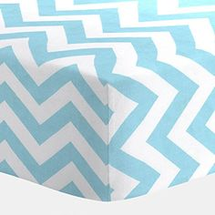 Carousel Designs Aqua and White Zig Zag Crib Sheet Carousel Designs